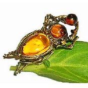 Украшения handmade. Livemaster - original item Brooch scarab beetle amber love amulet talisman souvenir. Handmade.