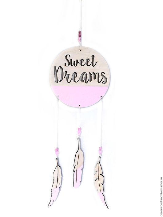 """Детская ручной работы. Ярмарка Мастеров - ручная работа. Купить Композиция в детскую комнату """"Sweet Dreams"""". Handmade. Бледно-розовый"""