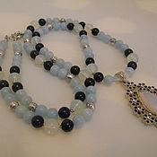 Украшения handmade. Livemaster - original item Long necklace with pendant with pendant made of natural stones