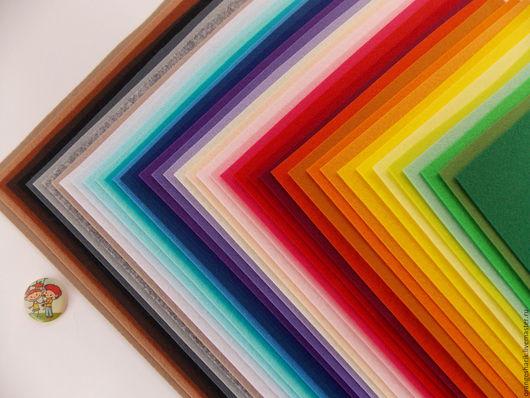 Другие виды рукоделия ручной работы. Ярмарка Мастеров - ручная работа. Купить Набор жёсткого корейского фетра 40 цветов 20х30 1,2мм. Handmade.
