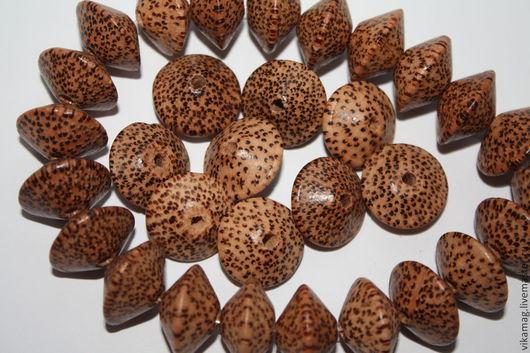 Для украшений ручной работы. Ярмарка Мастеров - ручная работа. Купить Пальмовое дерево молодое, юла, 20 мм. Handmade.