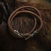 Русский стиль handmade. Livemaster - original item leather cord (5 mm )