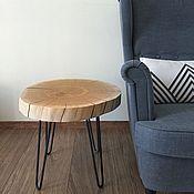 Столы ручной работы. Ярмарка Мастеров - ручная работа Кофейный столик из дуба на ножках шпильках First love. Handmade.