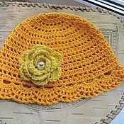 Аксессуары ручной работы. Ярмарка Мастеров - ручная работа Желтая летняя шапочка. Handmade.