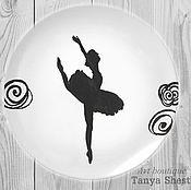 """Посуда ручной работы. Ярмарка Мастеров - ручная работа Декоративная тарелка """"Балет"""" ручная роспись. Handmade."""