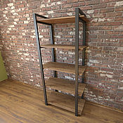 Для дома и интерьера handmade. Livemaster - original item Loft style shelving 200 cm x 100 cm.. Handmade.