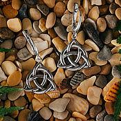 """Серьги классические ручной работы. Ярмарка Мастеров - ручная работа Серьги """"Трикветр"""" литые из серебра 925. Handmade."""