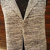 Одежда ручной работы. Ярмарка Мастеров - ручная работа Меланжевый удлиненный жилет. Handmade.