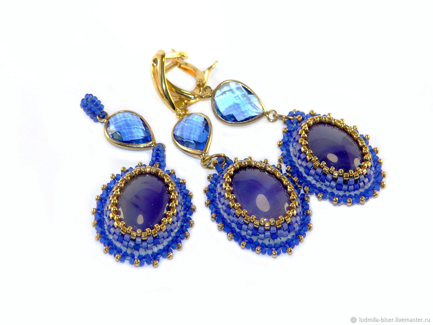 A set of ' Cornflower favorite color', Jewelry Sets, Moscow,  Фото №1