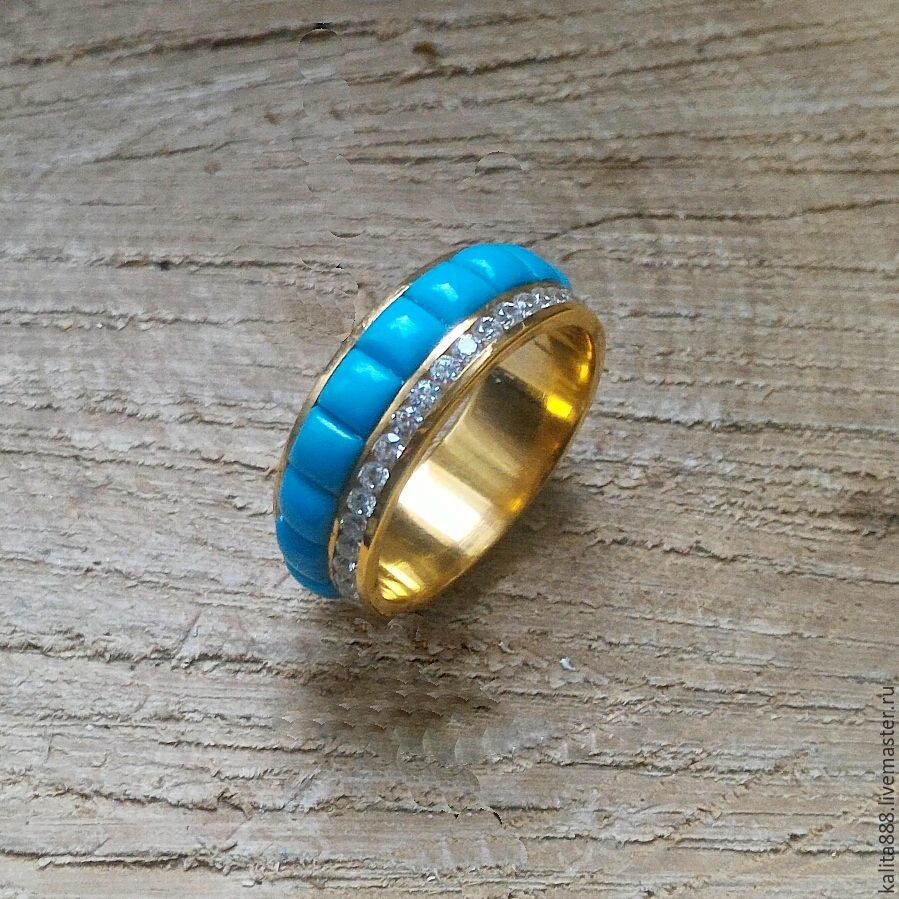 Silver ring with turquoise, Rings, Moscow,  Фото №1