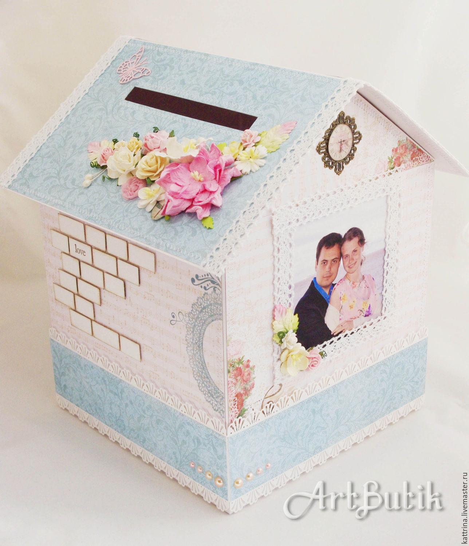 Свадебный домик для денег своими руками 32