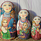 Матрена Ивановна с детьми
