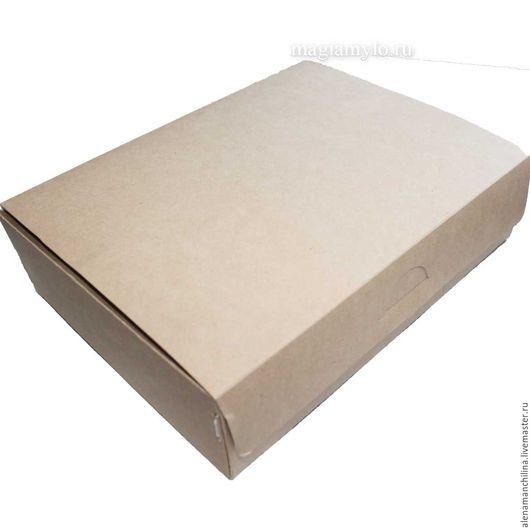 Упаковка ручной работы. Ярмарка Мастеров - ручная работа. Купить Коробочка разм. 215 х 170 х 55 мм., крафт, самосборная. Handmade.
