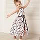 Одежда для девочек, ручной работы. Шикарный розовый долматин детское платье из прокатного атласа. PetiteAnnJou. Интернет-магазин Ярмарка Мастеров.
