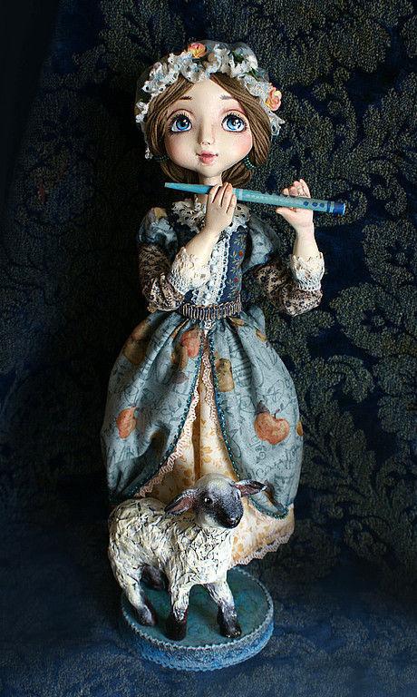 Коллекционные куклы ручной работы. Ярмарка Мастеров - ручная работа. Купить Адель. Вечерняя фея.. Handmade. Авторская кукла
