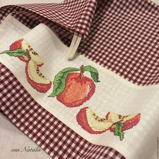 """Кухня ручной работы. Ярмарка Мастеров - ручная работа. Купить Кухонное полотенце с вышивкой """"""""Вкус спелых яблок -2"""". Handmade."""