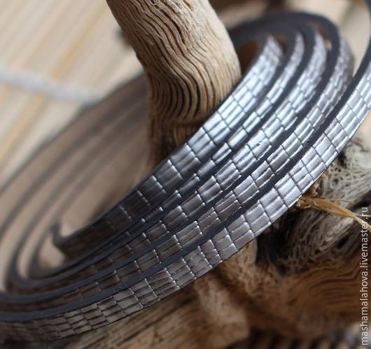Для украшений ручной работы. Ярмарка Мастеров - ручная работа. Купить Шнур иск. кожа 5х2мм (10см). Handmade.