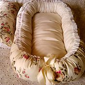 """Работы для детей, ручной работы. Ярмарка Мастеров - ручная работа Бебинест """"Princess""""+подушечка. Handmade."""