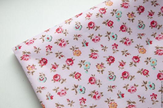 Шитье ручной работы. Ярмарка Мастеров - ручная работа. Купить Непромокаемая ткань, Розы. Handmade. Ткань в мелкий рисунок, птички