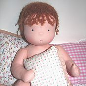 Материалы для творчества handmade. Livemaster - original item Blank-pattern doll baby knit White angel. Handmade.