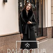 Одежда handmade. Livemaster - original item Winter coat with removable fur collar. Handmade.