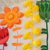 """Для дома и интерьера handmade. Livemaster - original item Чехол """"Радужные цветочки"""".. Handmade."""