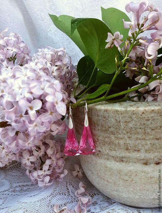 """Серьги ручной работы. Ярмарка Мастеров - ручная работа. Купить """"Розовый парфе"""" Серьги.. Handmade. Серьги, топаз розовый"""