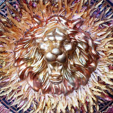 Картины и панно ручной работы. Ярмарка Мастеров - ручная работа Картины: Лев-Огонь от «VivantArt». Handmade.