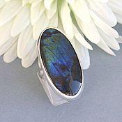 Rings handmade. Livemaster - original item Ring spektrolit. silver. Handmade.
