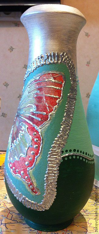 "Ваза для сухоцветов ""Серебряная бабочка"""