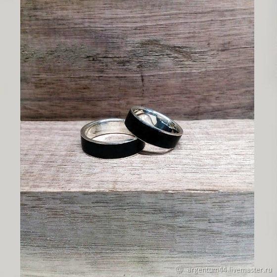Серебряное кольцо с деревянной вставкой, Кольца, Кострома, Фото №1