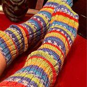 Аксессуары ручной работы. Ярмарка Мастеров - ручная работа Яркие шерстяные носочки. Handmade.