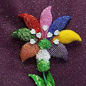 Украшения handmade. Livemaster - original item Tsvetik - Semitsvetik embroidery for Alla. Handmade.