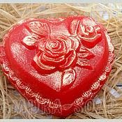"""Косметика ручной работы. Ярмарка Мастеров - ручная работа мыло """"Розовое сердце"""". Handmade."""
