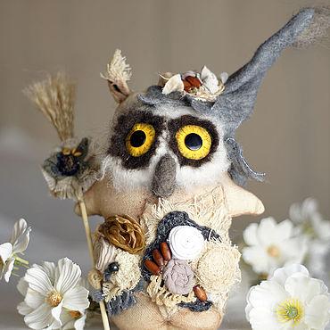 Куклы и игрушки ручной работы. Ярмарка Мастеров - ручная работа Сова с желтыми глазами в стиле Бохо.. Handmade.