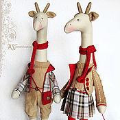 Куклы и игрушки ручной работы. Ярмарка Мастеров - ручная работа Жирафы в английском стиле. Handmade.