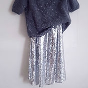 Одежда ручной работы. Ярмарка Мастеров - ручная работа Длинная юбка с пайетками. Handmade.
