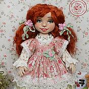 Кукла текстильная. Анна кукла интерьерная с объемным личиком