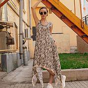 Платья ручной работы. Ярмарка Мастеров - ручная работа Камуфляжное платье. Handmade.