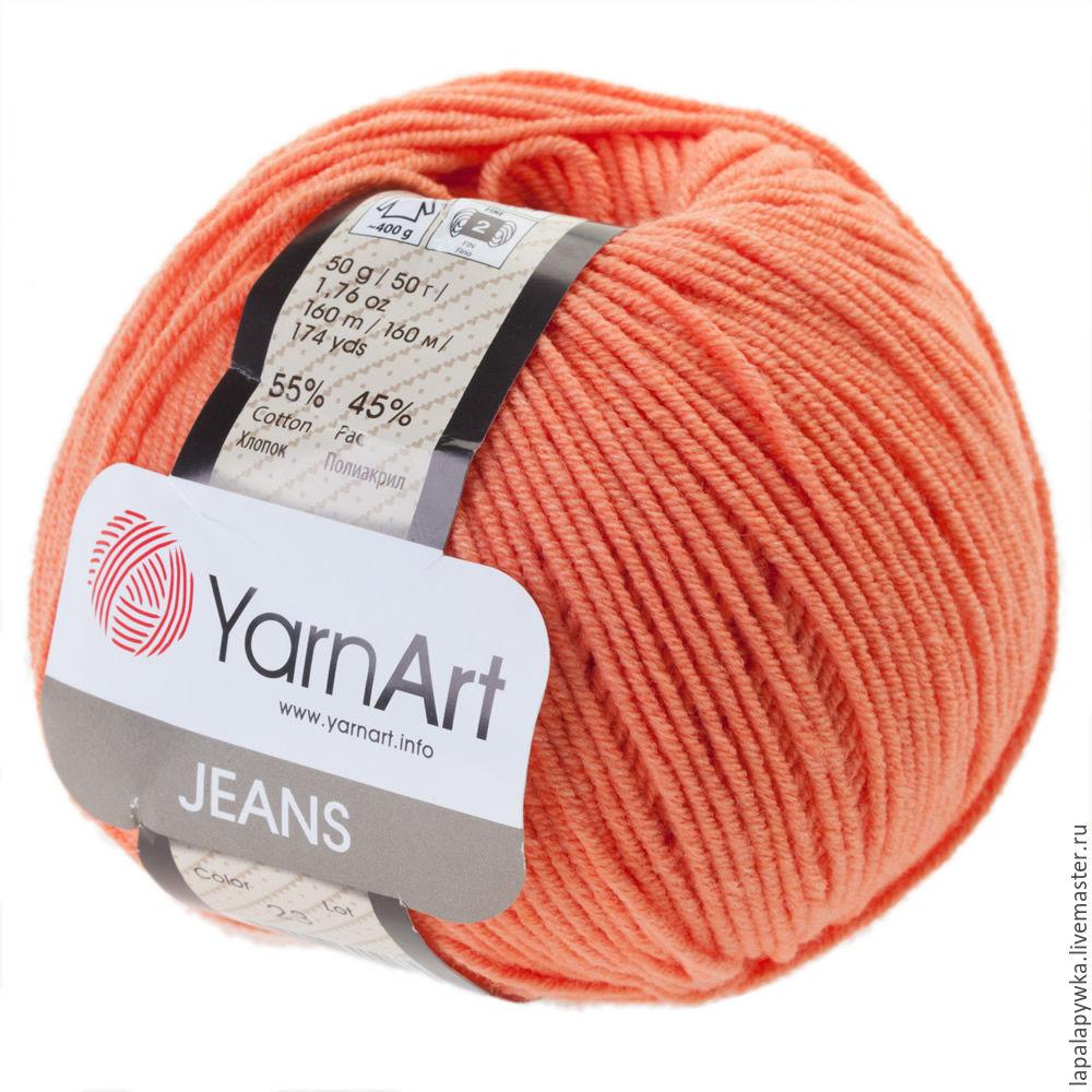 Купить YarnArt Jeans 1 белый, 5 г в Москве от 6