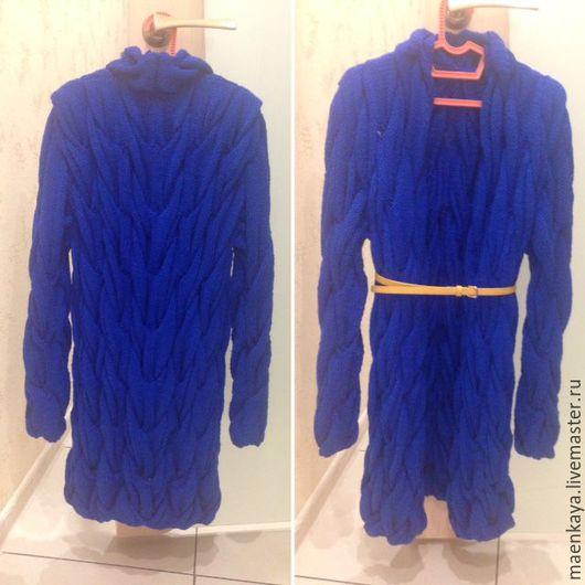 """Пиджаки, жакеты ручной работы. Ярмарка Мастеров - ручная работа. Купить Кардиган в стиле Лало """"Шарпей"""". Handmade. Тёмно-синий"""