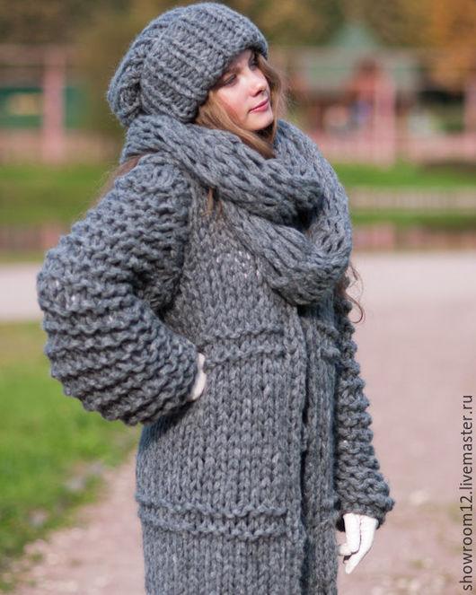 Кофты и свитера ручной работы. Ярмарка Мастеров - ручная работа. Купить Теплый кардиган-пальто. Handmade. Серый, кофта вязаная