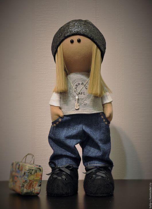 """Куклы тыквоголовки ручной работы. Ярмарка Мастеров - ручная работа. Купить Интерьерная кукла """"Все это рок-н-ролл..."""". Handmade."""