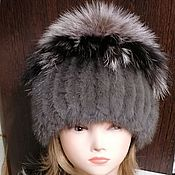 Аксессуары handmade. Livemaster - original item Fur hat. Gray Fantasy. Real fur. Handmade.