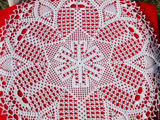 Текстиль, ковры ручной работы. Ярмарка Мастеров - ручная работа. Купить Салфетка Кружевная паутинка № 4. Handmade. Белый