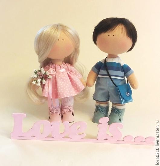 Куклы тыквоголовки ручной работы. Ярмарка Мастеров - ручная работа. Купить LOVE IS.... Handmade. Авторская ручная работа, мальчик