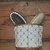 Для дома и интерьера ручной работы. Ярмарка Мастеров - ручная работа Кашпо для расчесок. Handmade.