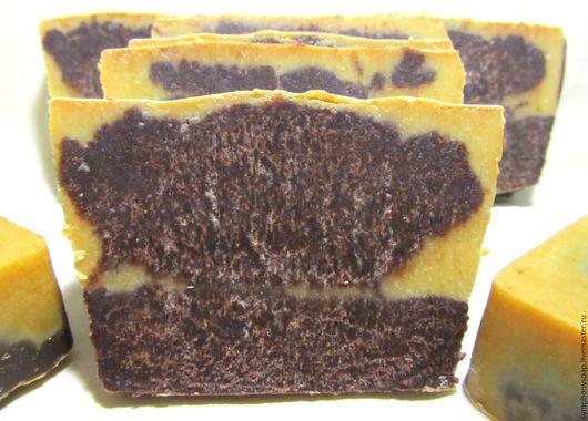 Мыло ручной работы. Ярмарка Мастеров - ручная работа. Купить Мыло с нуля Апельсин в шоколаде. Handmade. Коричневый, апельсиновое мыло