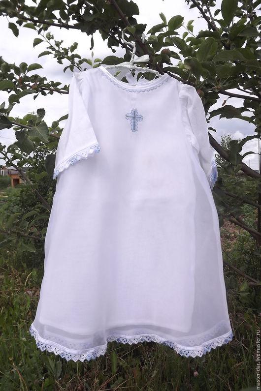 Крестильные принадлежности ручной работы. Ярмарка Мастеров - ручная работа. Купить Крестильная рубашка. Handmade. Белый, крестильная одежда
