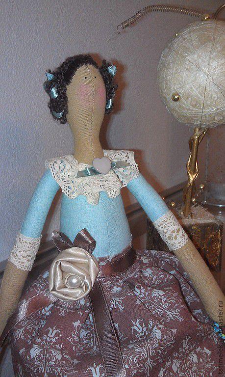 Куклы Тильды ручной работы. Ярмарка Мастеров - ручная работа. Купить кофейная фея. Handmade. Голубой, текстильная кукла, подарок